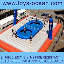 inflatable beach volleyball court/synthetic for volleyball court/jumping volleyball court