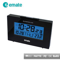 Cool table alarm clock with 7 languages weekday display