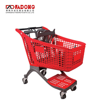 factory supply supermarket trolley flat bed food well-designed