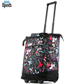 Fashion butterfly pattern colorful rolling trolley shopping bag vegetable