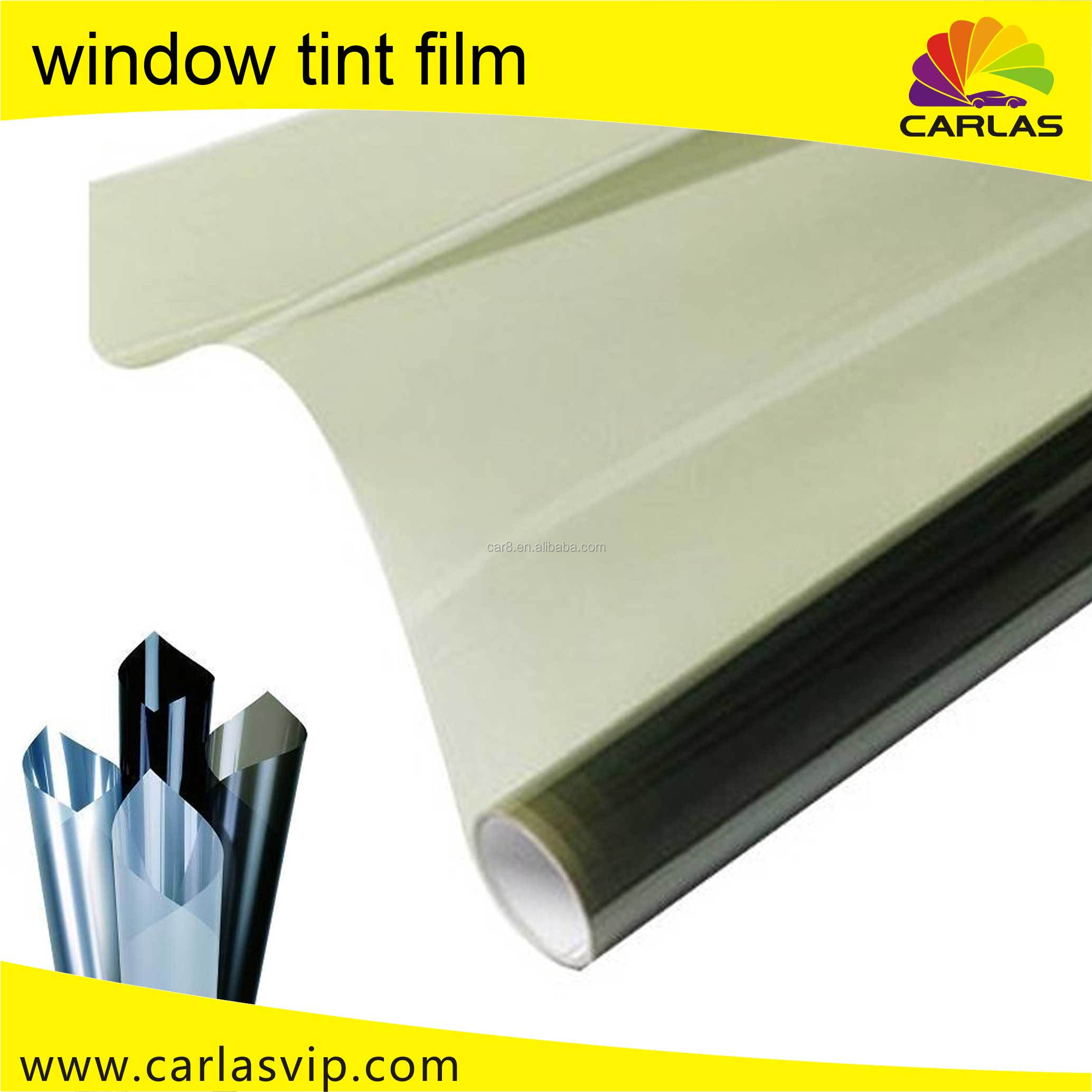 Carlas PET material solar window tinting custom el car sticker