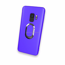 Cell Phone TPU Back Cover Matte Case With 360 Rotating Ring Stand for Samsung S9 PLUS/G965