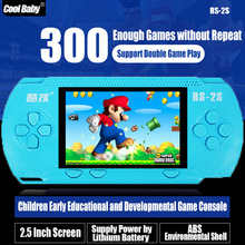 Nostalgic 2.5 Inch Color Screen Handheld Game Console Double Player with 300 Different Games