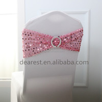 wholesale sequins chair sash with buckle