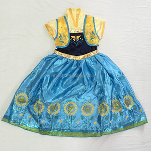 MAC-0918 wholesale kids frozen elsa and anna costume,child girl dress