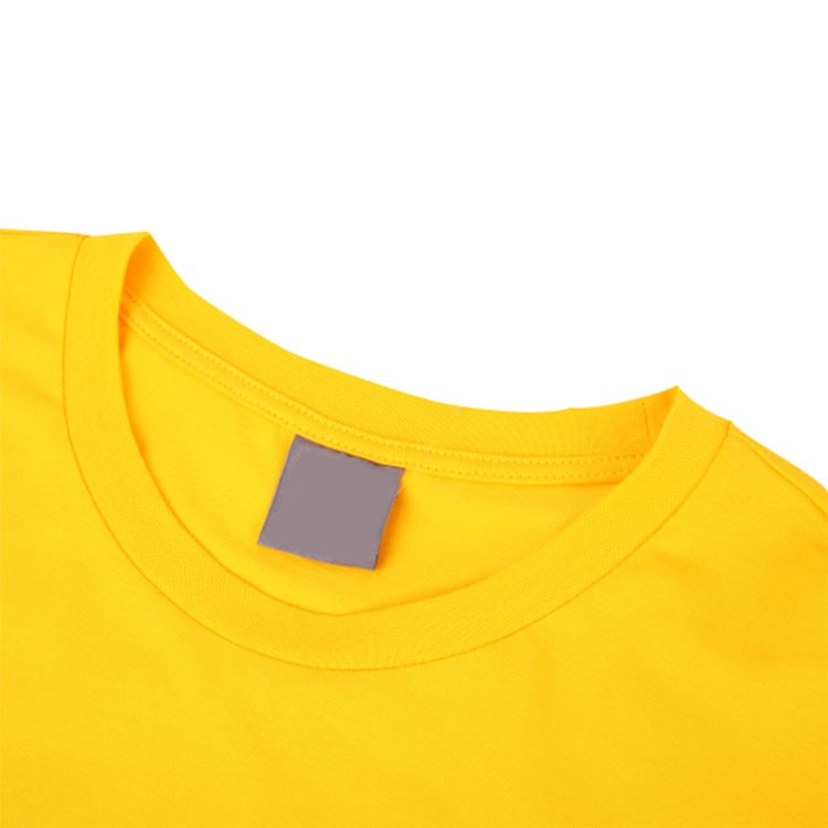 2016 Cheap Wholesale High Quality New Fancy Design Summer Men Casual Short Sleeve O-Neck Yellow Blank 160g 100% Cotton T-Shirts