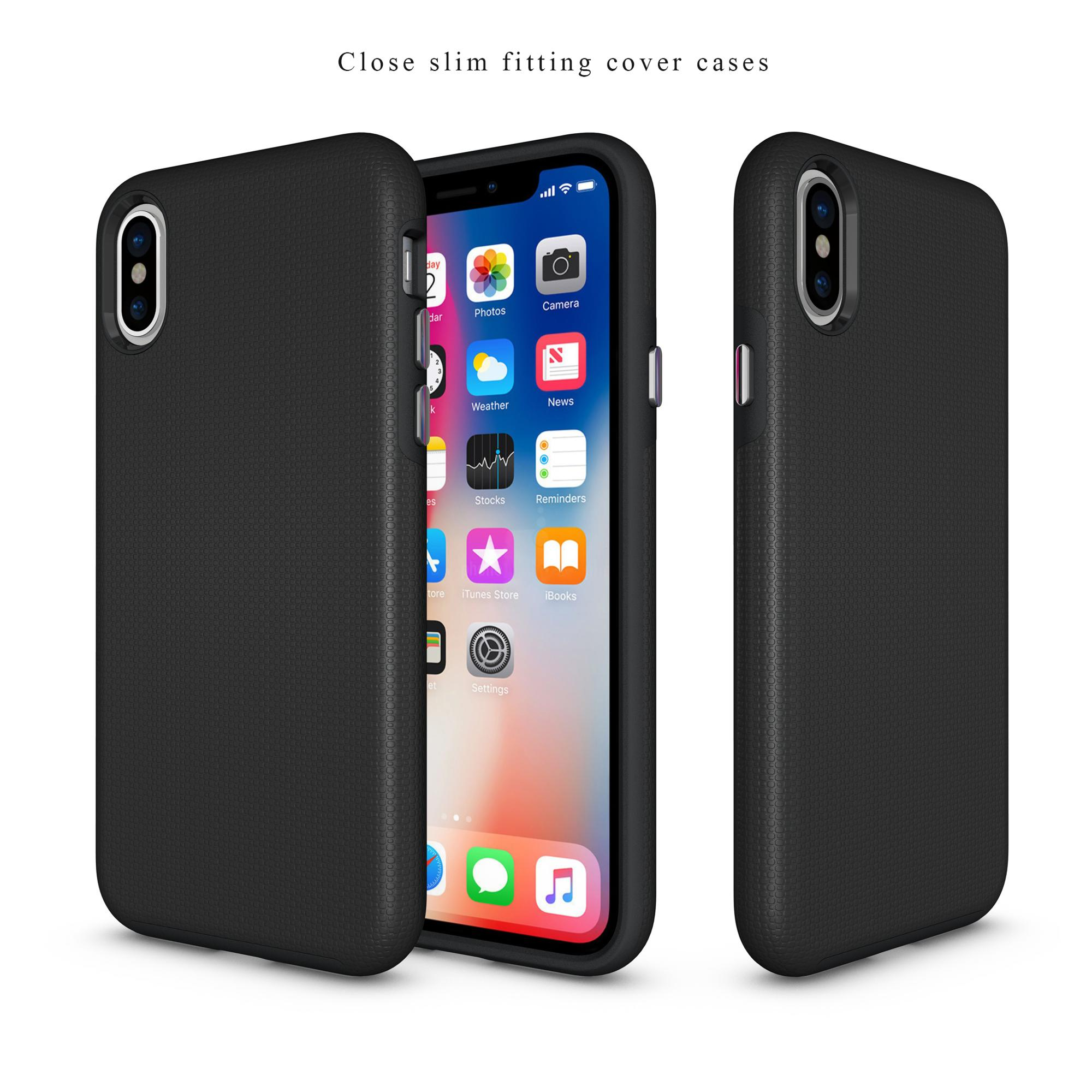 DFIFAN TPU and PC 2 in 1 Case for Apple iphone x Ultra Slim Protective Mobile Phone Case for iphone x Armour Case