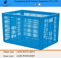 110L Cheap PE/PP Storage Plastic Basket for fruit