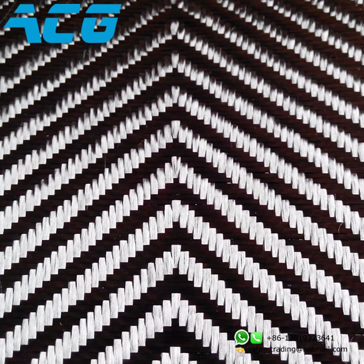 V twill carbon fiber fabric Cloth for Car hood decoration