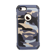 Silicone PC 2 in 1 Camouflage Shock-resistant Hybird Combination Case For iPhone 7 Case TPU PC, Heavy Combo Cover For iPhone 7