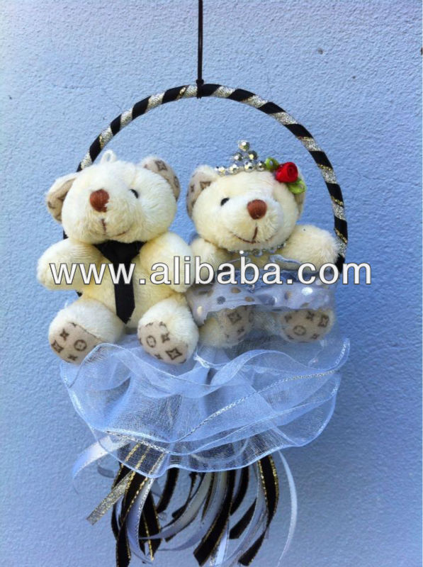 Black and White Couple Teddy Bear Party Gifts 11cm x 20cm
