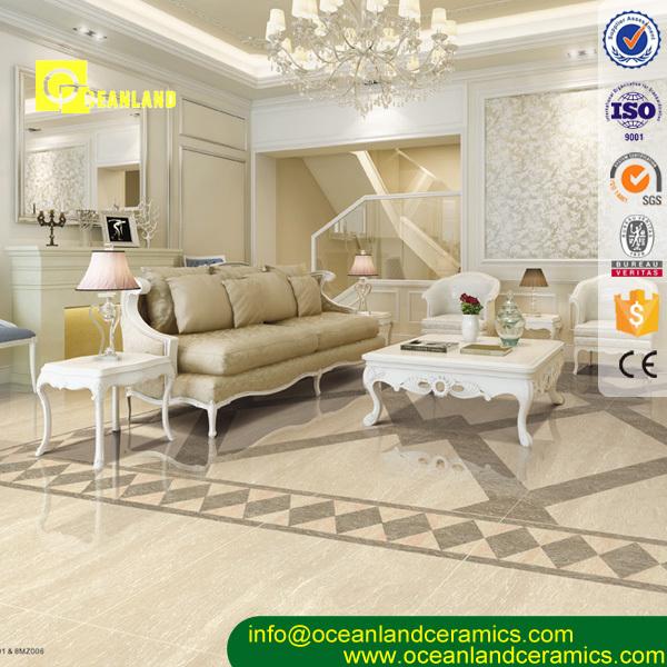 Ivory Color Polished Vitrified Floor Tile