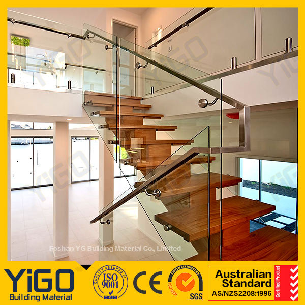 Modern galvanized steel banister with Glass certificate