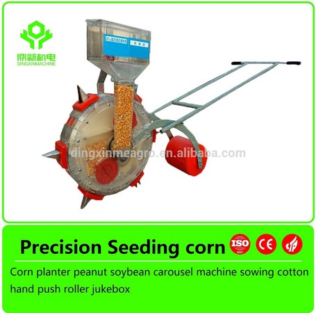 Walking behind Hand push light corn 1 row manual vegetable seeder