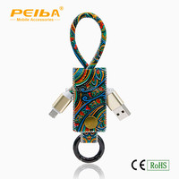 Shenzhen factory intelligent 1M PVC Phone and Android 2 in 1 phone usb data cable