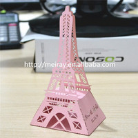 2015 new products! laser cut pink eiffel tower paper box for guests vintage wedding decorations from Mery Crafts