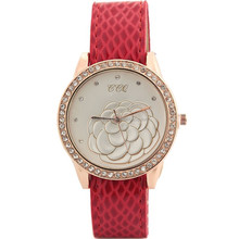 Beautiful women diamond floral flower watch leather straps for watches