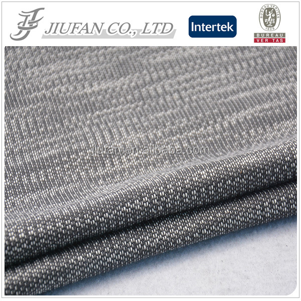 Jiufan textile knitting cotton jersey fabric for sport sweater