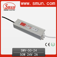 High Efficiency 50W 24V 2A Waterproof LED Driver For LED Lighting