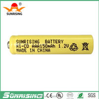 1.2V 150mah ni-cd battery aaa rechargeable batteries