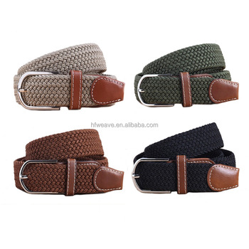 customized colors braided elastic belts with high quality and low price
