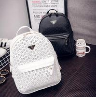 Women Hollow Out Backpacks Famous Brand White Black Backpack for Girls