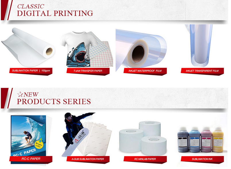 inkjet transparency pet film rolls for silk screen printing
