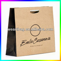 2013 High Quality kraft paper bag with hole handle