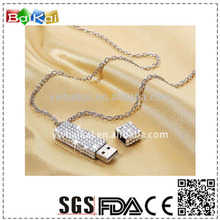 wholesale china manufacturer novelty bling 2GB USB flash driver with chain