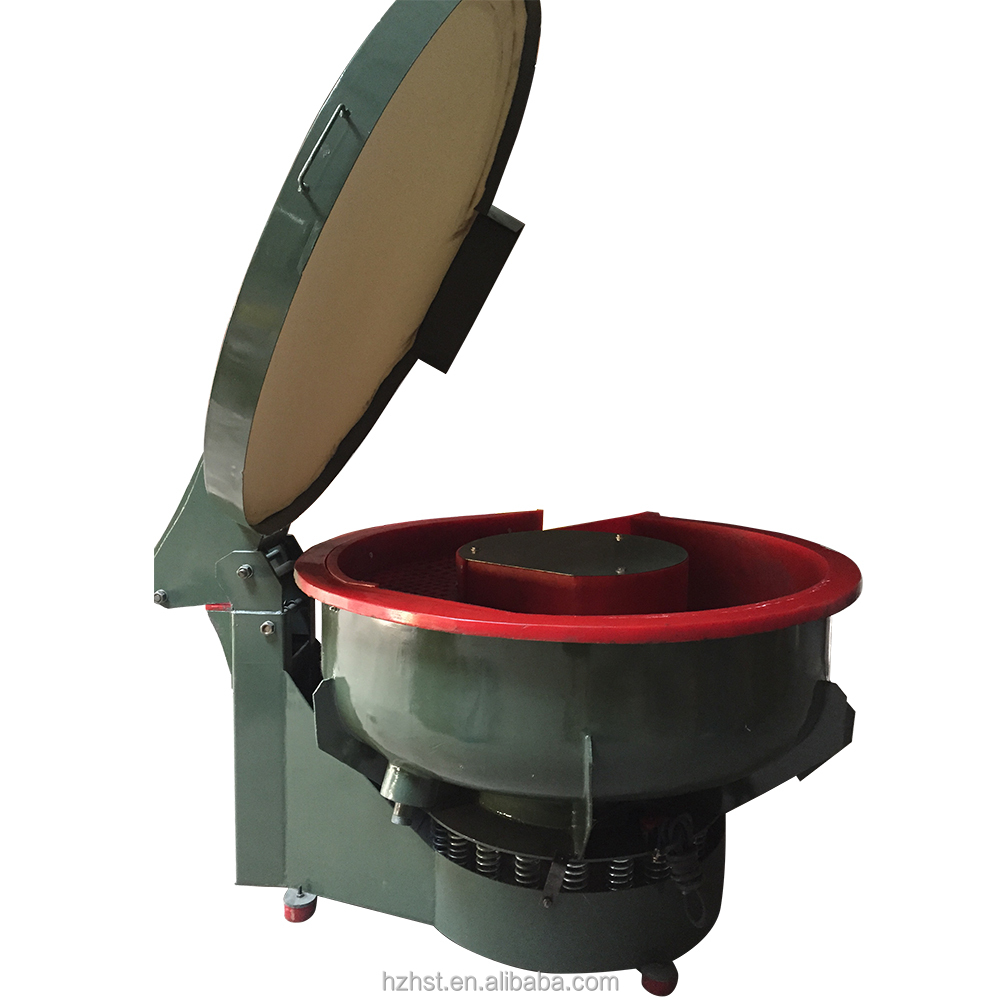VIbratory deburing polishing tumbler with free noise cover