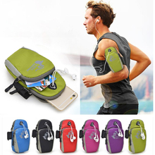 Universal Running Riding Nylon Sports Phone Pouch Mobile Cell Phone Arm Bag Case for iPhone Phone Pouch