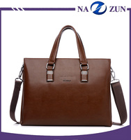 Alibaba China Bag Supplier High End Custom Logo Wholesale Leather Briefcase Cheap Bag Leather Man Laptop Bag