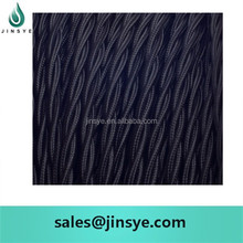 black textile fabric twisted electrical cord