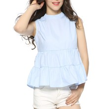 Women stand collar blouses European style summer casual top blusas