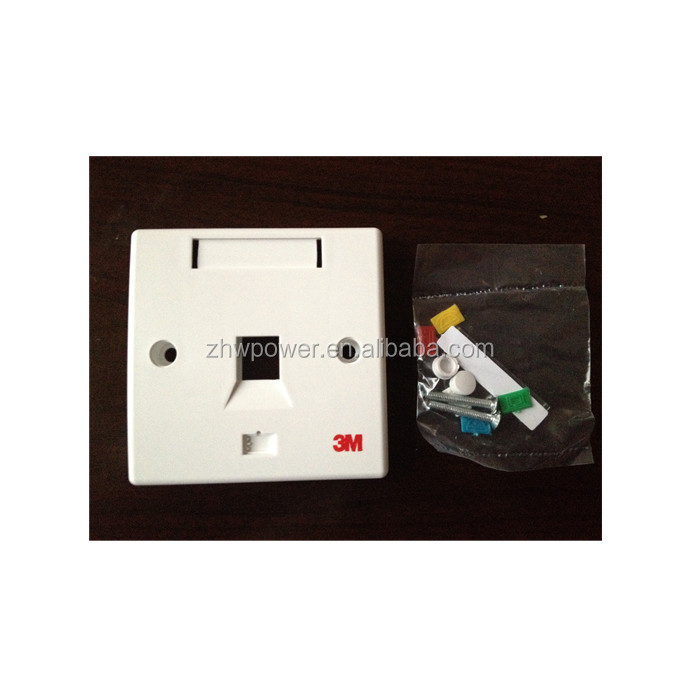 RJ45 face plate UK standard for 2 jack , VOL-FPUK-2K face plate
