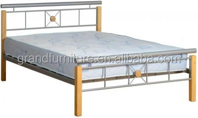 Hot Sale New Design Wood Post Double Bed