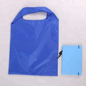 Easy Carry Reusable Foldable Polyester Shopping Bags With Drawstring Bag
