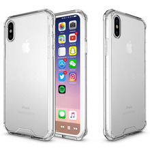 Custom Logo TPU Soft Bumper Hard Clear Case for iPhone X