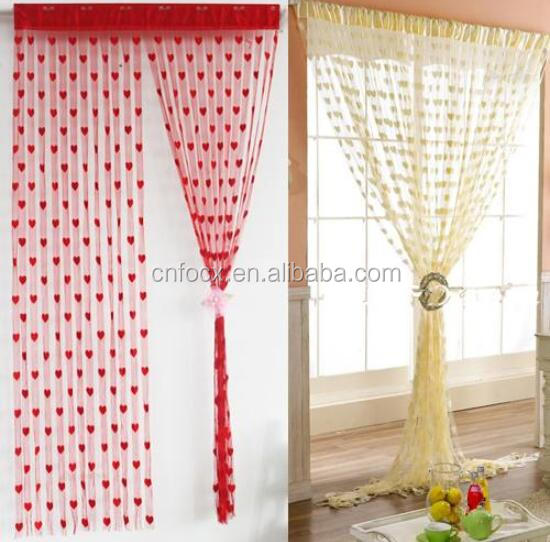 7 Color Heart Panel Line String Curtain Window Curtains / home decor curtains / wedding curtains