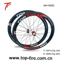 Sale 50mm carbon road bike wheels with sapim CX-Ray at factory price