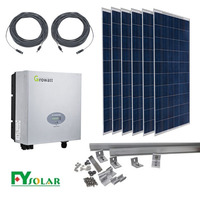 on grid solar system with 250W price per watt solar panels For Home Use solar