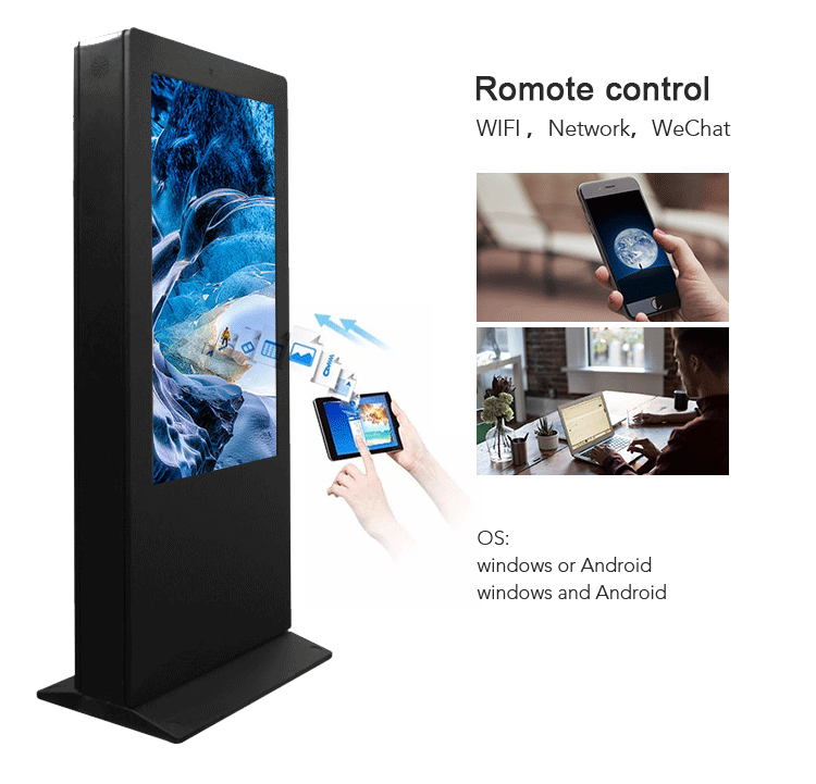 Floor Stand netwerk wifi lcd display reclame waterdichte outdoor kiosk screen standalone digital signage