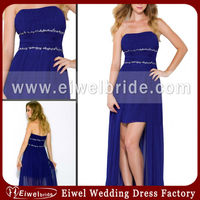 g232 Eye Catchin 2014 Royal Blue Plus Size High Low Hem Prom Dresses