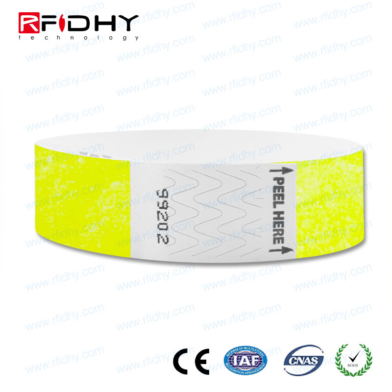 Event tickets NFC 213 printable Vinyl wristband medical ID bracelet