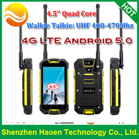 4G Rugged Mobile Phone with 4.5 Inch Tough Screen MTK6735 processor GPS Android5.0 Rugged Mobile Phone Walkie Talkie PTT Mobile