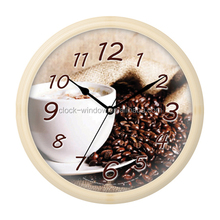 coffee round wall clock