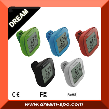 New Arrival 2015 3D g-sensor pedometer multi colors fitness step counter