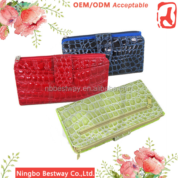 Hot selling cheap famous top brand women wallet