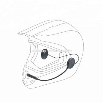 2 users full duplex communication system wireless intercom motorcycle helmet