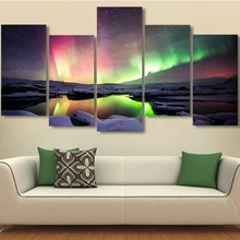 5pcs custom pictures printed digital giclee canvas prints for wall decoration